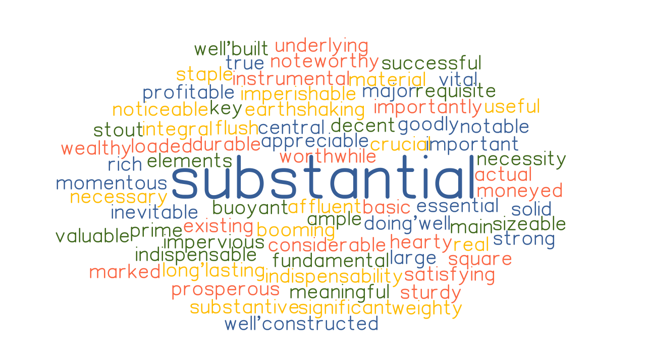 SUBSTANTIAL Synonyms and Related Words. What is Another Word for ...