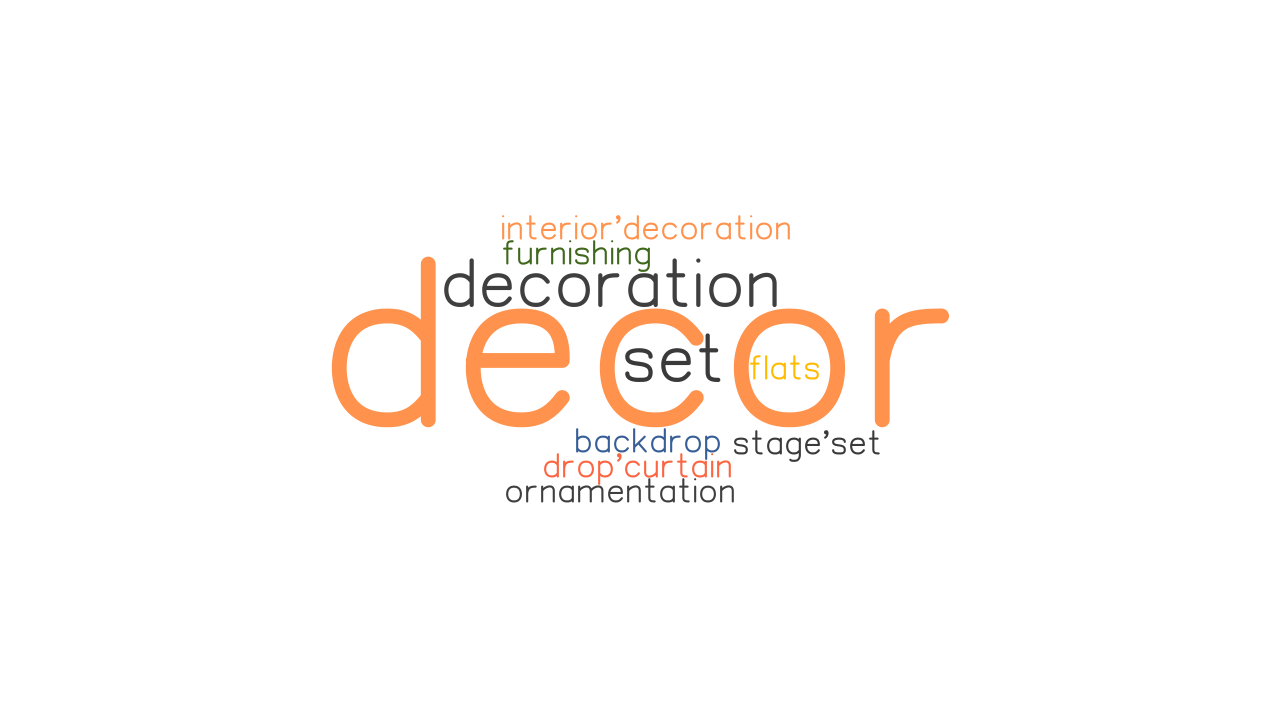 DECOR: Synonyms and Related Words. What is Another Word ...