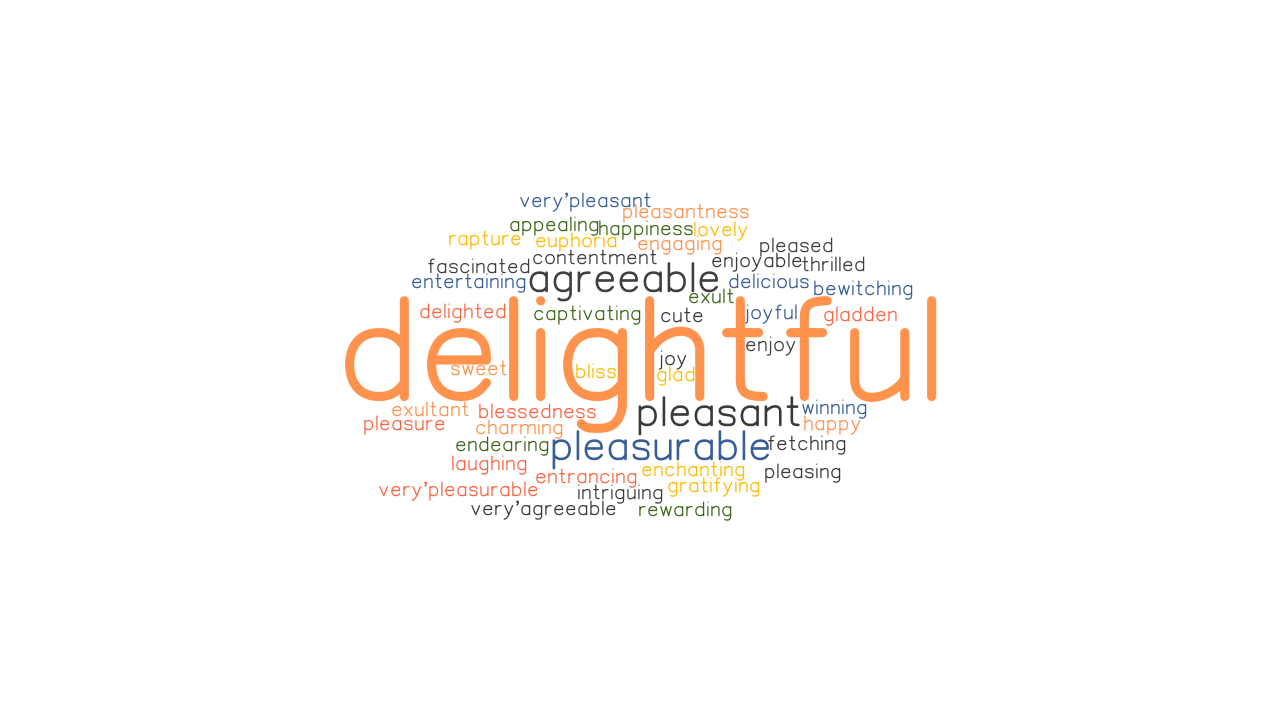DELIGHTFUL Synonyms and Related Words. What is Another Word for ...