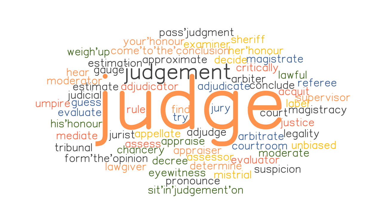 word form judge JUDGE: Synonyms and Related Words. What is Another Word for JUDGE