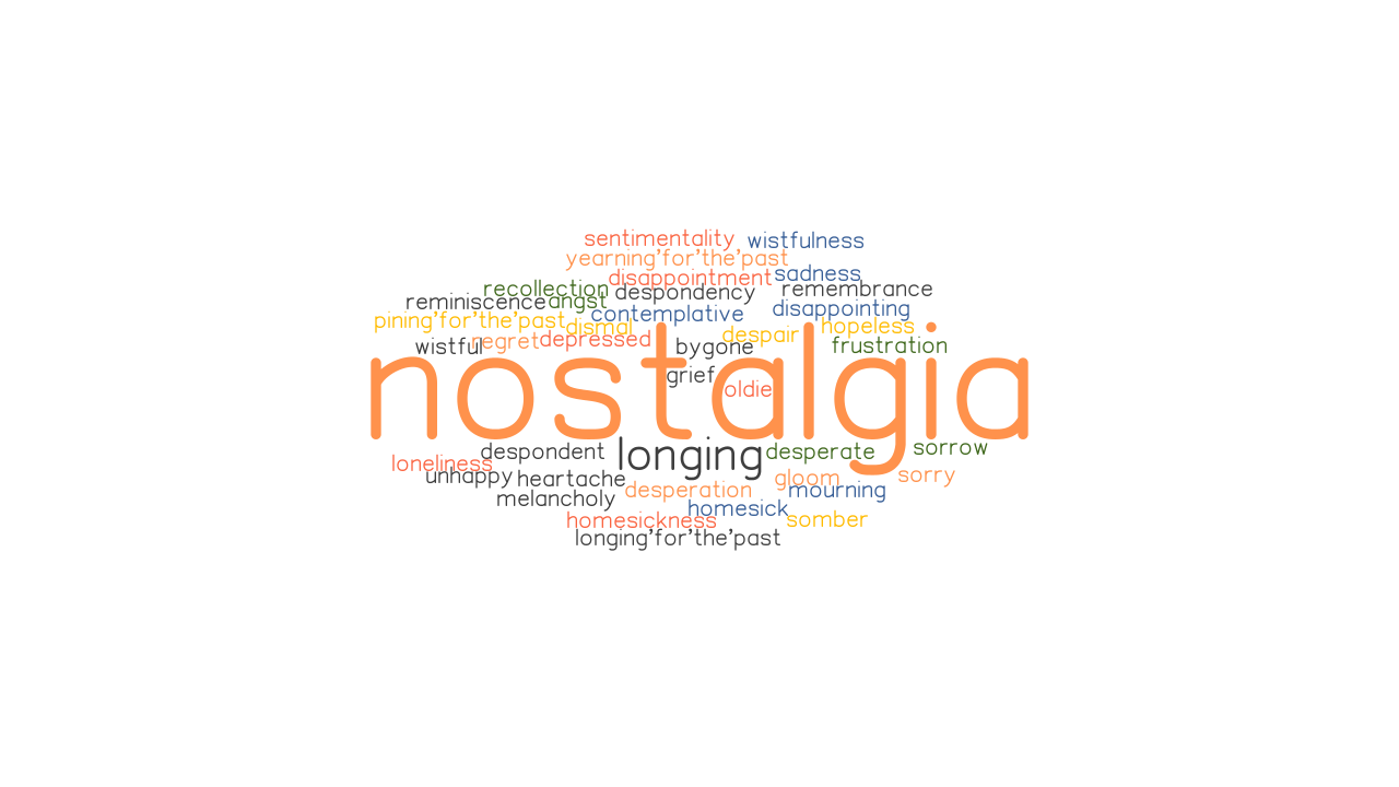 Nostalgia Synonyms And Related Words What Is Another Word For Nostalgia Grammartop Com Stores are getting desperate after two years of poor sales. nostalgia synonyms and related words