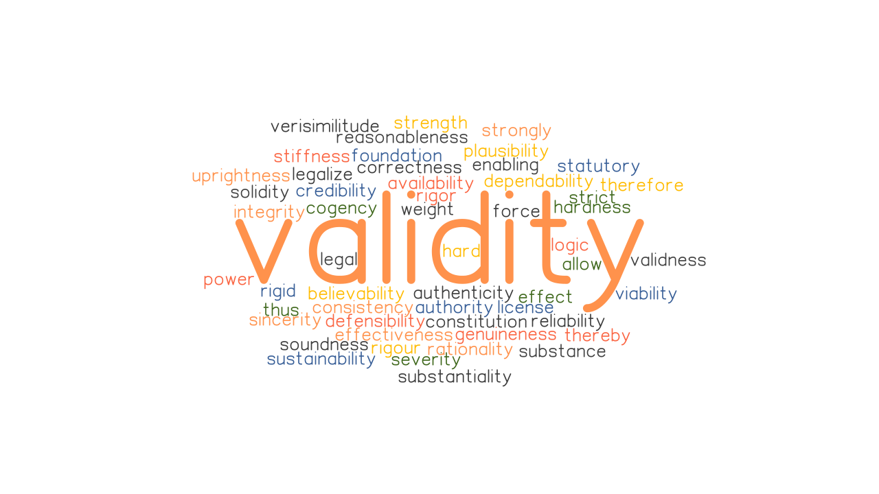 VALIDITY: Synonyms and Related Words. What is Another Word for VALIDITY? -  GrammarTOP.com